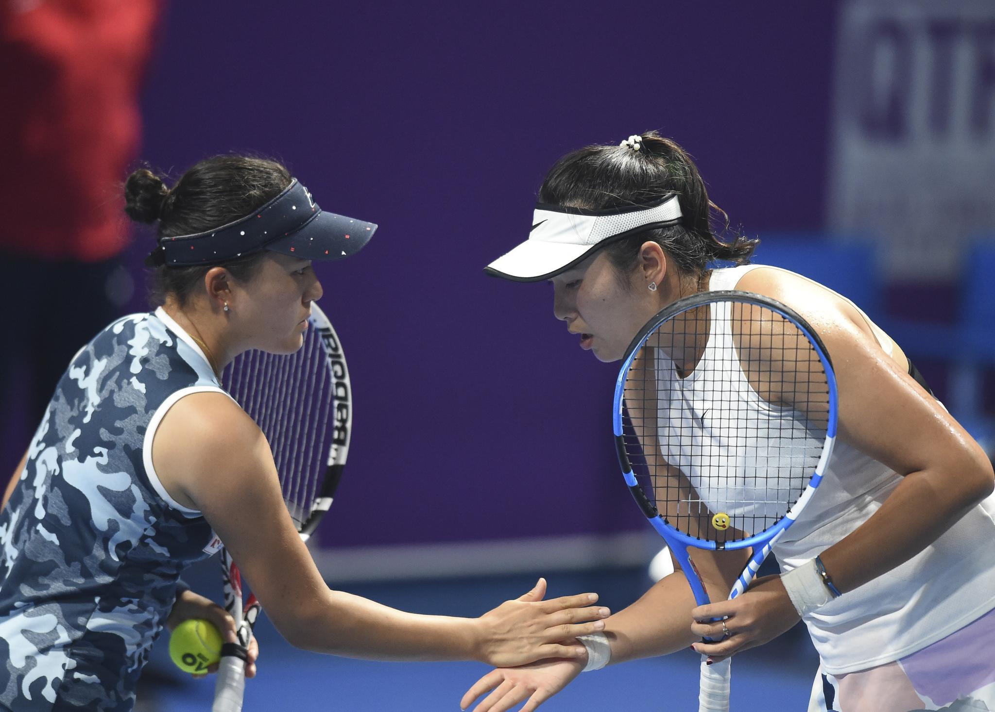 网球——WTA卡塔尔公开赛:杨钊煊/二宫真琴晋级
