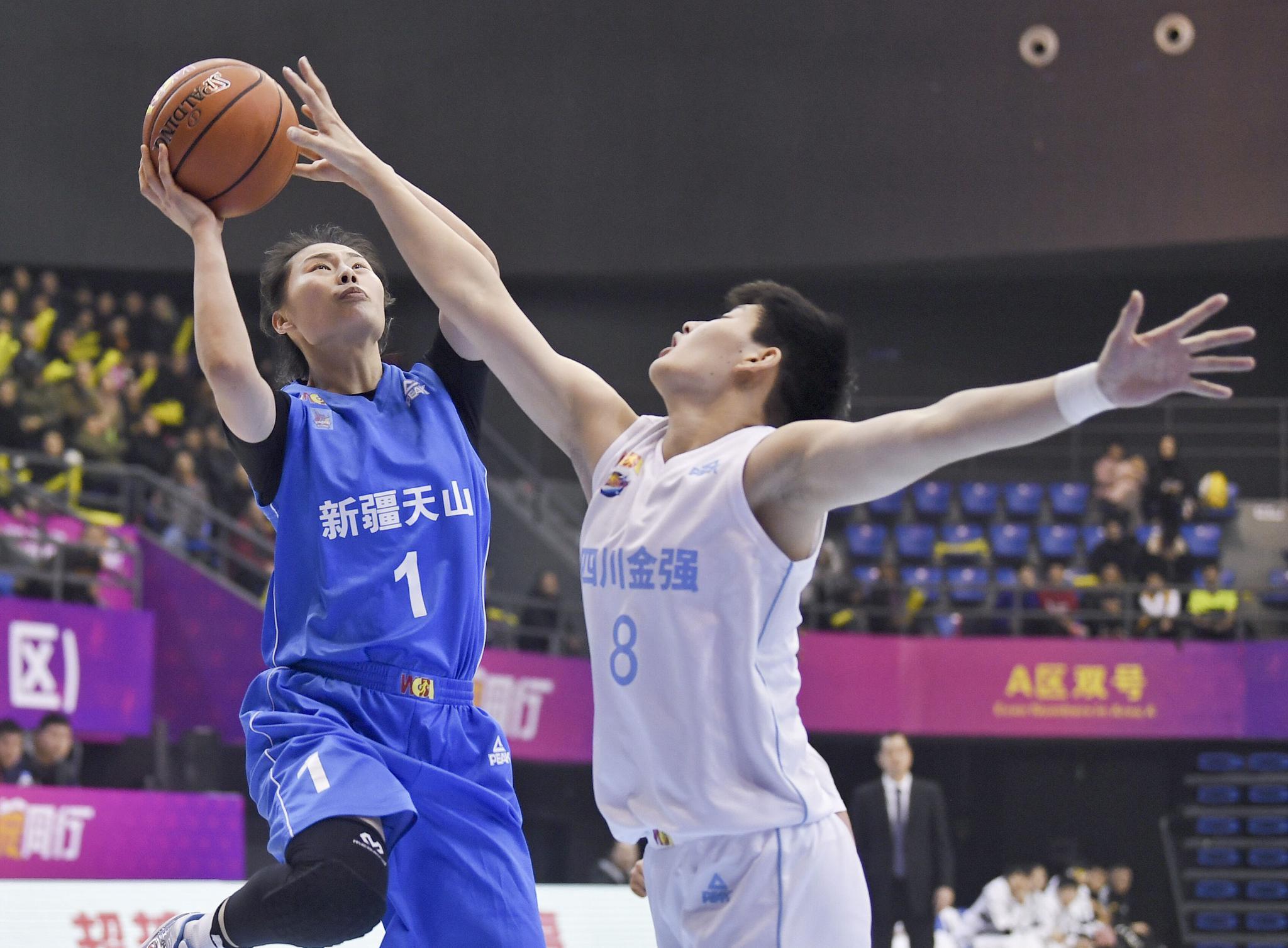 篮球——WCBA常规赛:新疆体彩胜四川远达美乐