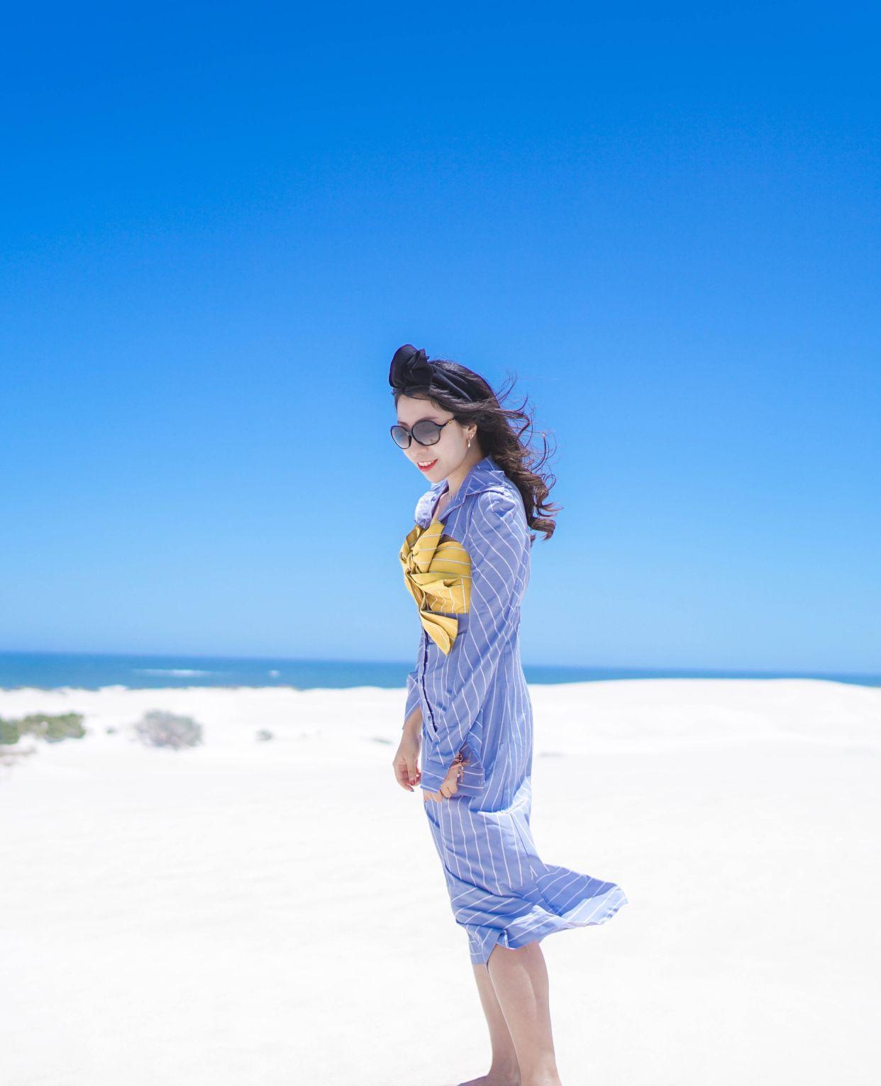西澳旅行兰斯林沙丘,一半海水一半沙丘