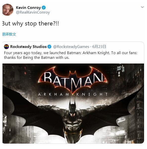 Rocksteady搞快点 蝙蝠侠配音本人都等不及玩新作了