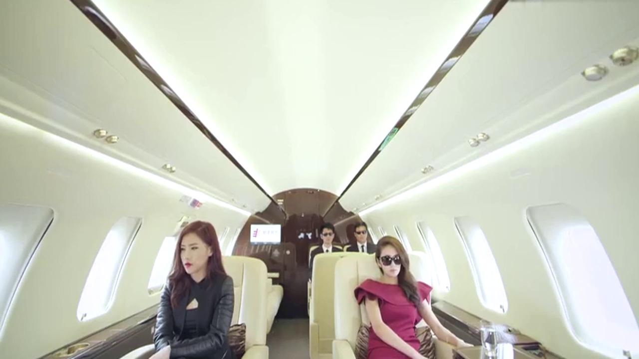 富家女坐私人飞机回国 太美了