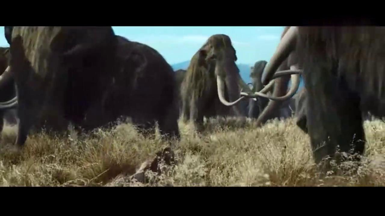 人类要战胜巨大的史前猛犸象,主要还是靠气质