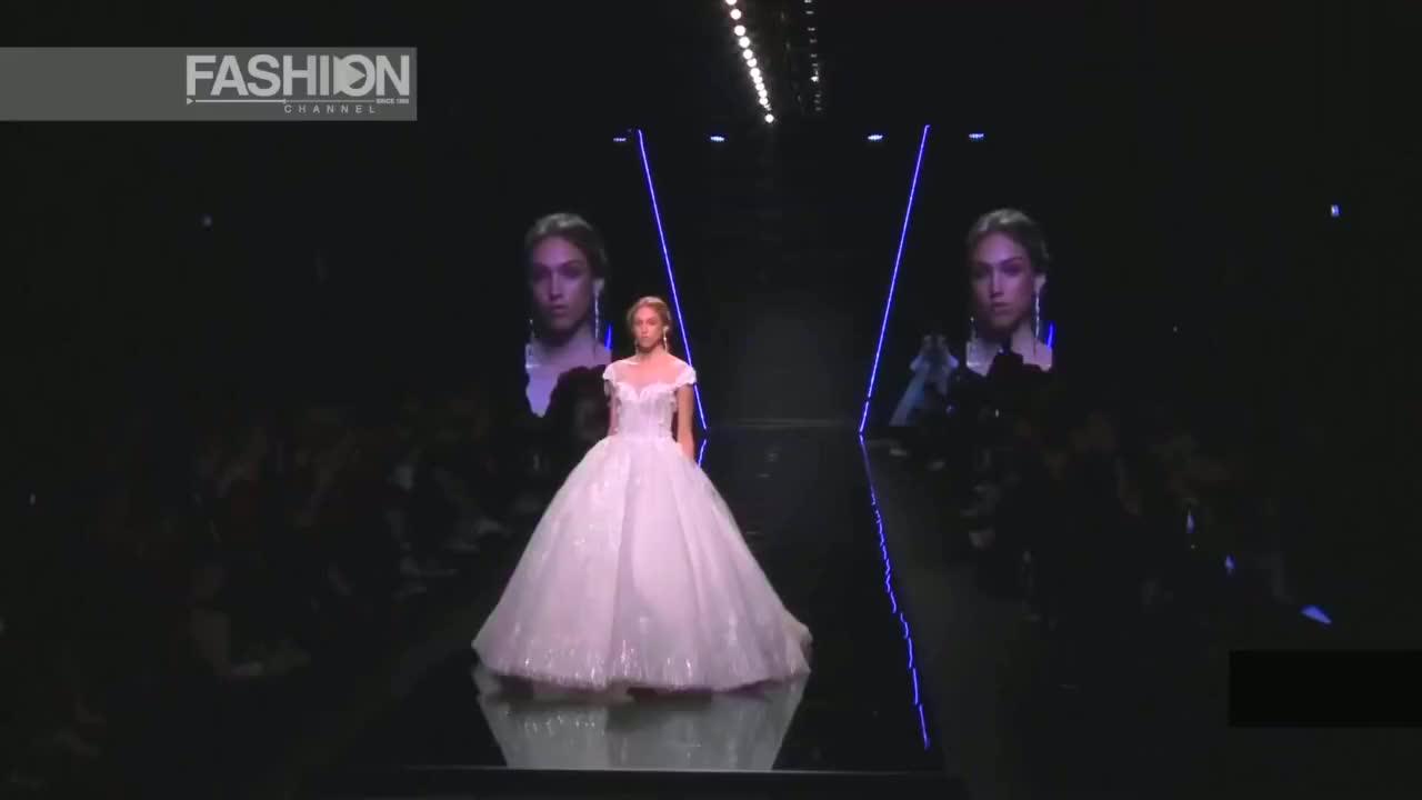 全球时尚盛典T台走秀,盛宴法国时尚新娘婚纱时装秀