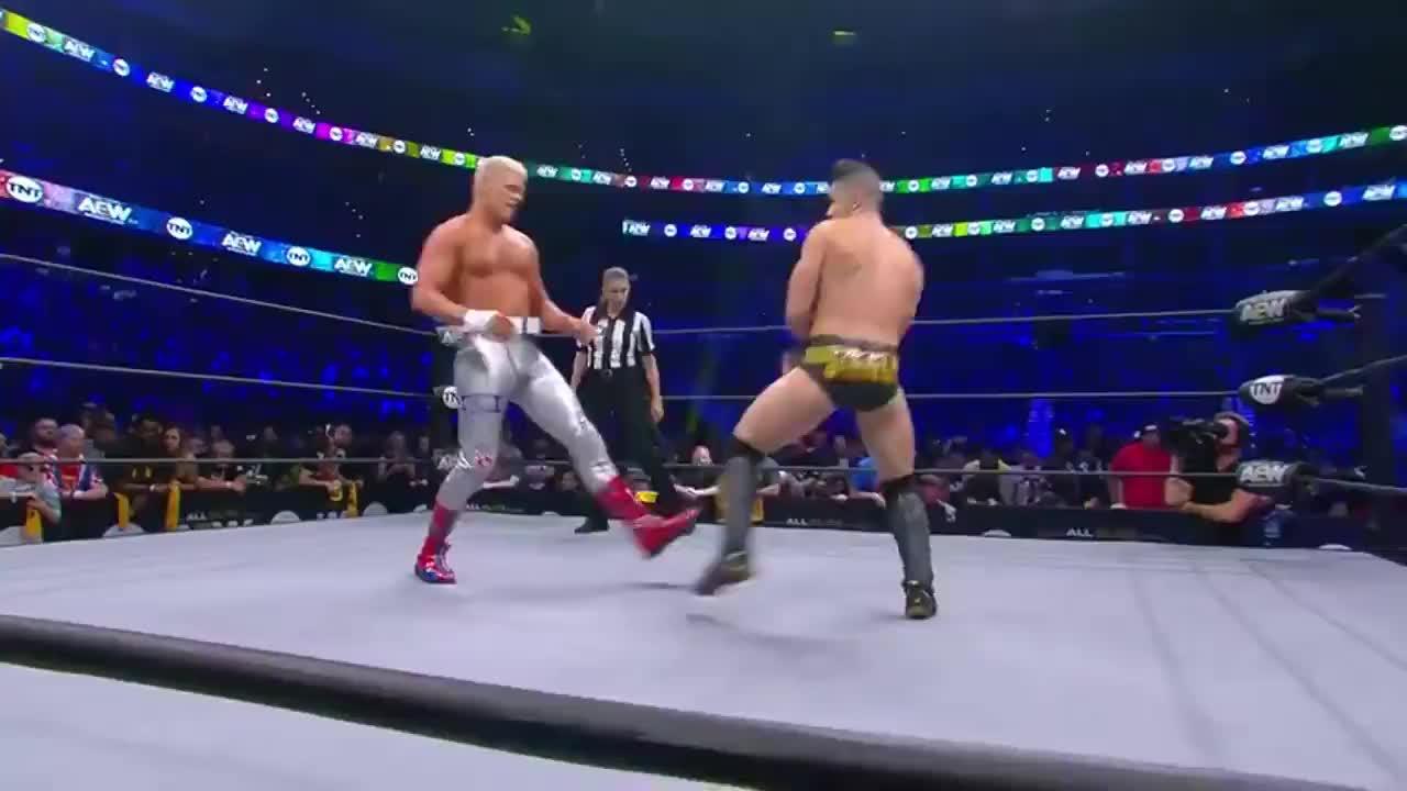 WWE科迪罗斯击败摔界吴亦凡虽已沦为3线选手功底不减当年