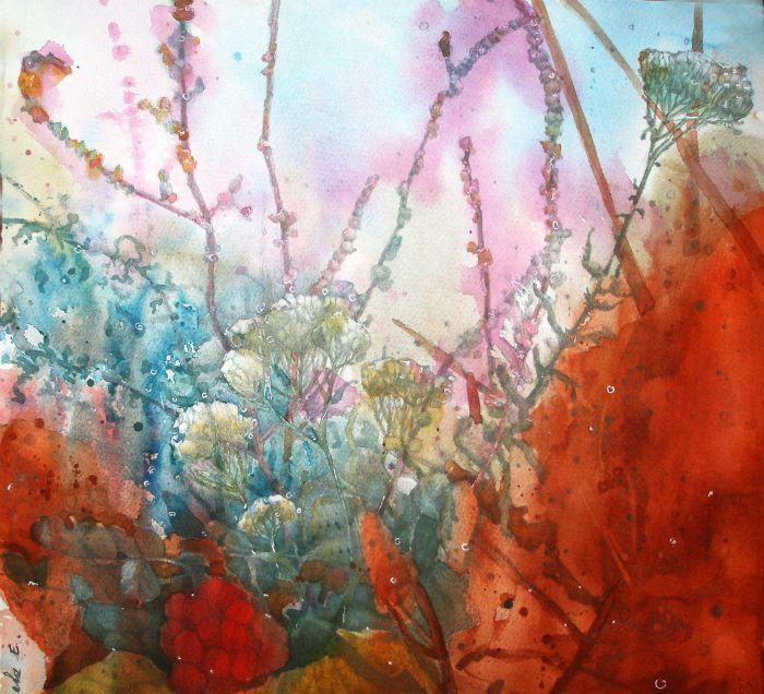 让世界充满温柔的花语:俄罗斯女画家海伦娜的经典水彩作品选