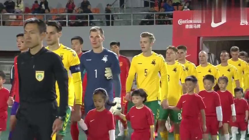 足球:陈彬彬频频制造机会胡靖航破门,立陶宛0-1中国