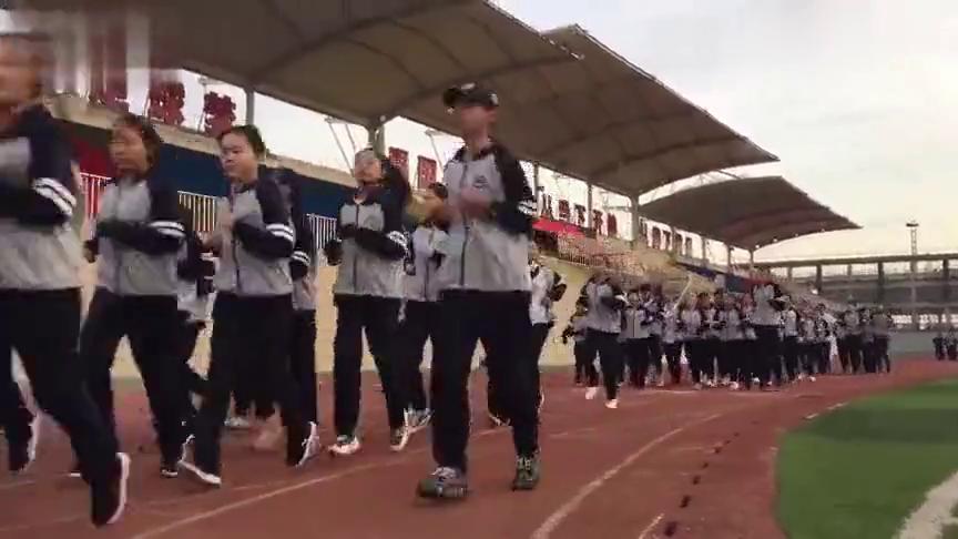 北京师范大学包头附属学校阳光体育晨跑