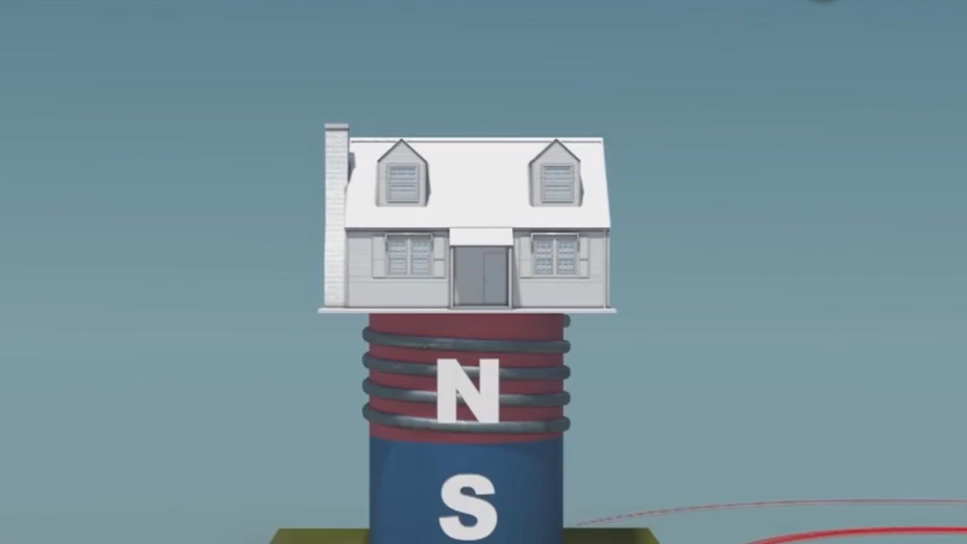 """老外的""""防震""""脑洞:地震时让房子飞起来,利用磁悬浮列车技术"""