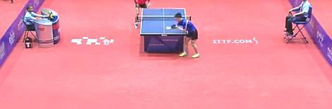 2016平壤公开赛乒乓球比赛视频剪辑_ Cao Wei vs Ro Hyon Song