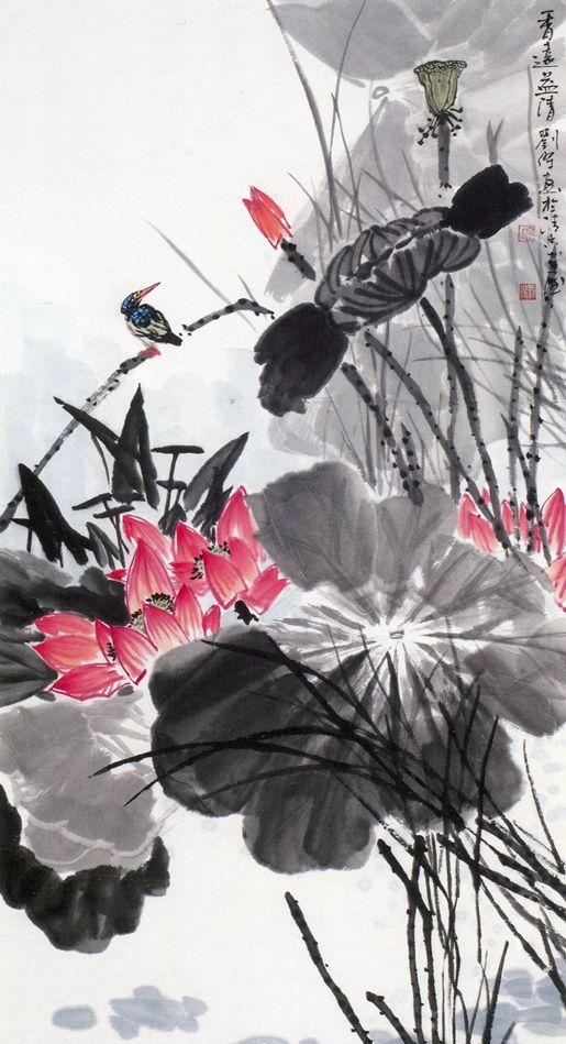 泰山画派名家国画作品欣赏(花鸟画)