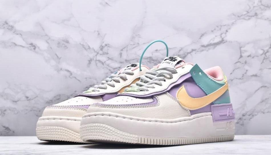 """耐克 Air Force 1 空军一号低帮百搭板鞋""""马卡龙糖果粉紫"""""""
