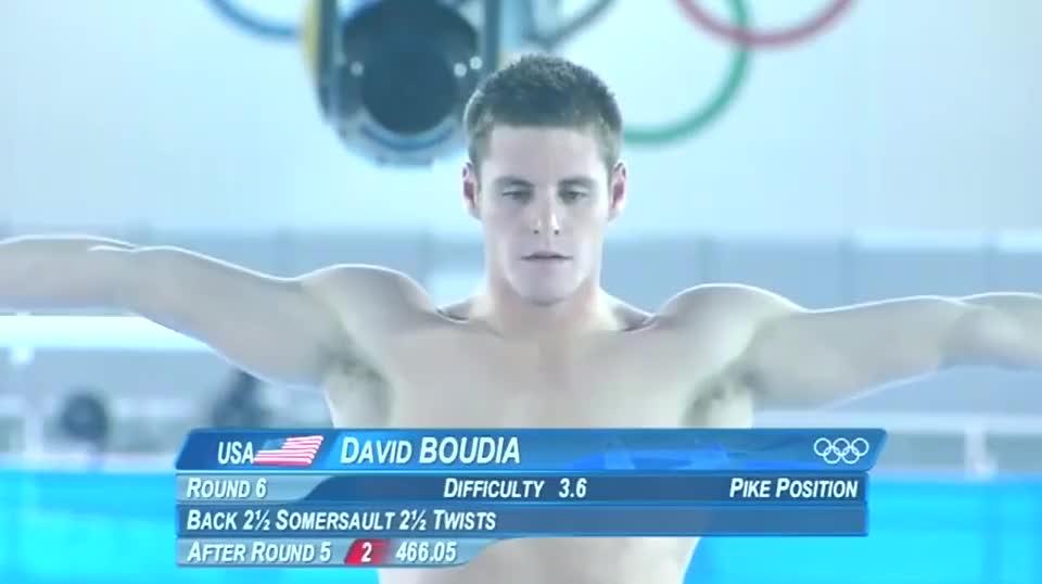 曾经大卫布迪亚这一跳 直接斩获奥运冠军 邱波梦碎了