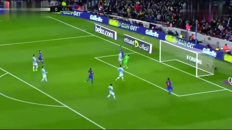 看世界足球先生高能时刻,进球对梅西来说太简单了!