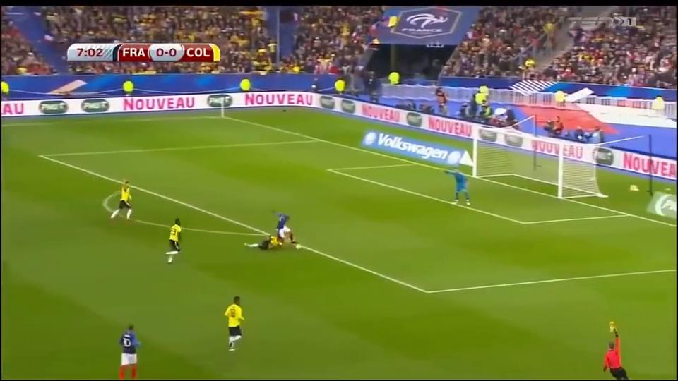 国际友谊赛,法国23哥伦比亚全场进球集锦