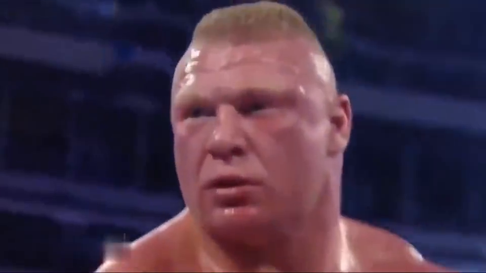 """WWE载入史册一战,布洛克被惨烈欺负,不幸输给HHH""""名门攻击"""""""