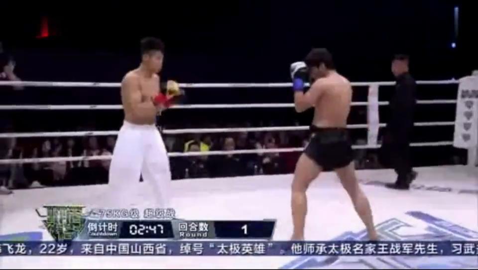 别再说太极拳不能打太极高手用神奇一招KO国外拳王