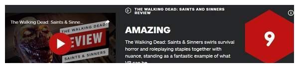 《行尸走肉:圣人与罪人》IGN 9分 VR游戏中的绝佳范例