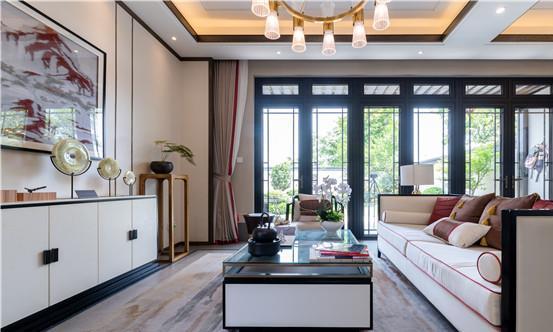 重庆新中式别墅装修效果图案例 好一幅层林尽染泼墨留白的画卷
