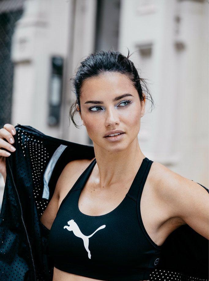 超模阿德里亚娜·利马拍摄广告大片,穿运动背心大秀好身材