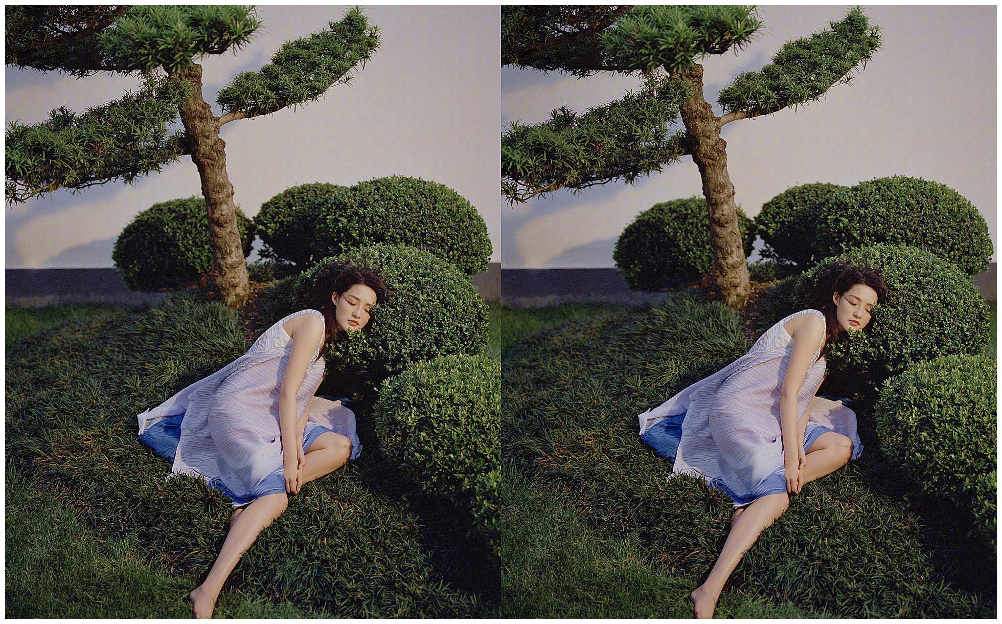 90后女星李沁秀身材,白裙飘飘,好似仙女下凡
