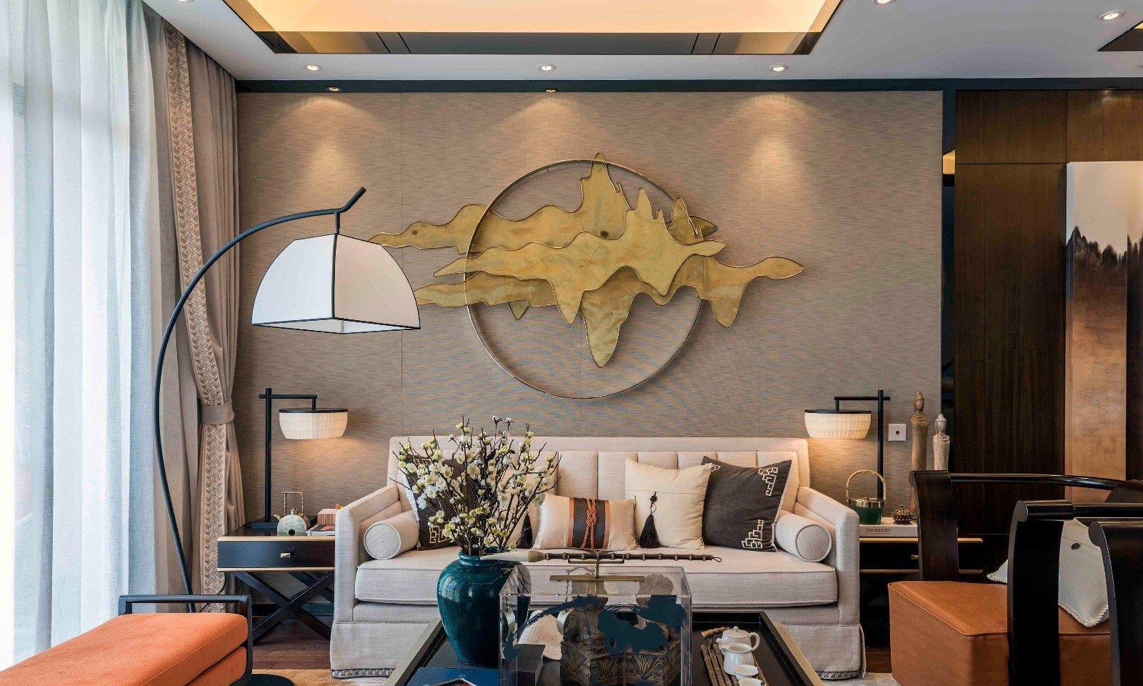 245平米新中式风格独栋别墅装修效果图 典雅住宅自带高端气质