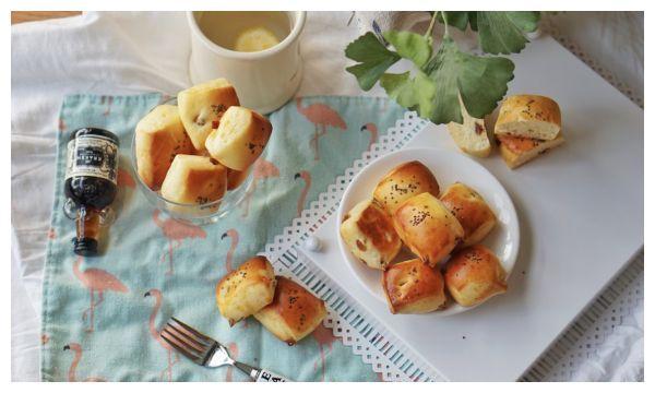 创意面包|葡萄干、碧根果优格小面包硬核菜谱制作人