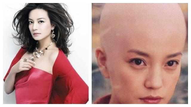 那些剃光头的女明星,吴佩慈女王范林志玲最美,而胡杏儿却……