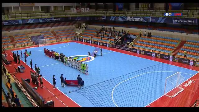 2019U20五人制亚洲杯:阿富汗 VS 香港(6 1)第一节实况录像