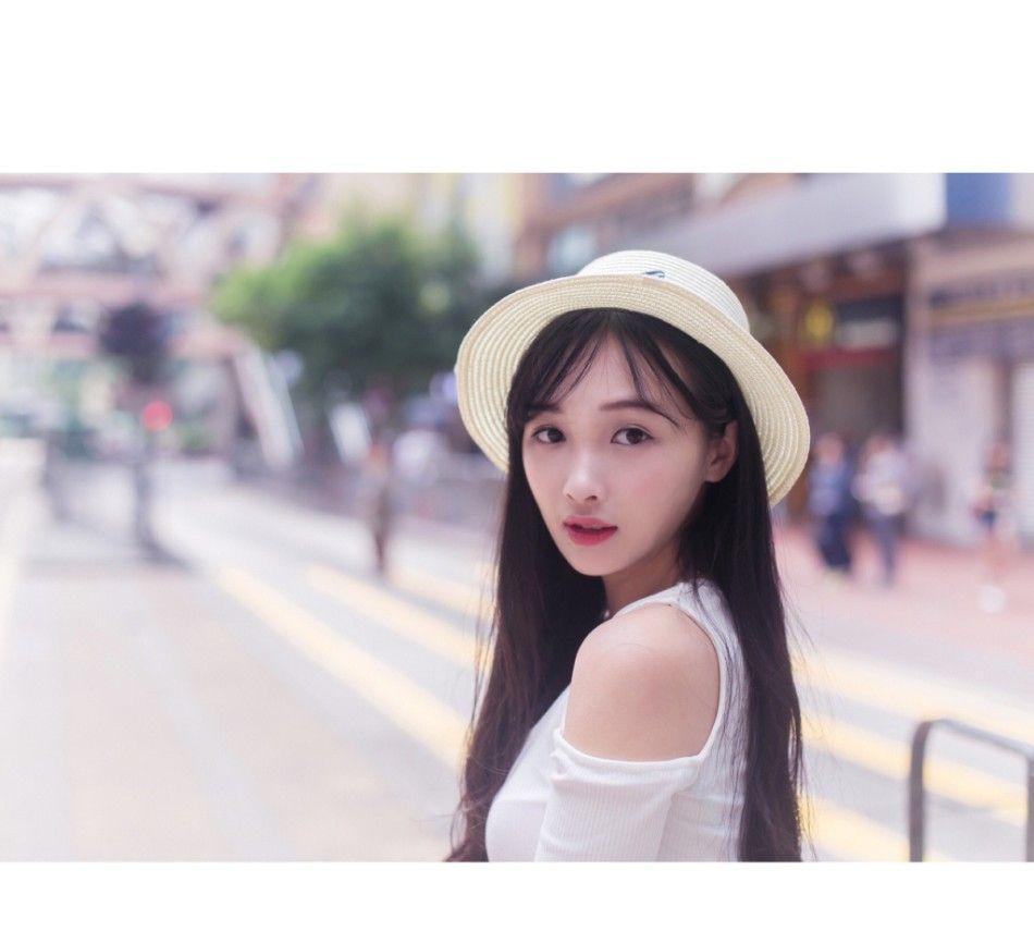 广东外语外贸大学校花欧唯美写真,肤白貌美小清新