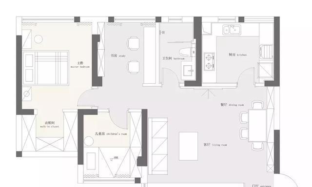 衡阳碧桂园82㎡现代简约装修,打破常规格局,小户型装出豪宅范