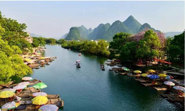 桂林周边游:遇龙河,象山,银子岩,世外桃源