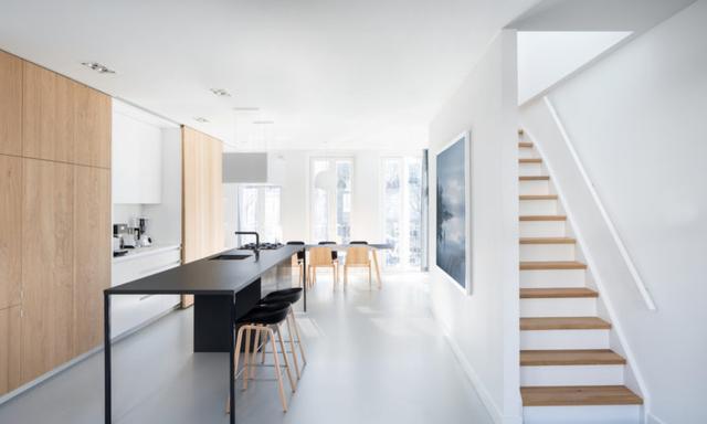 合肥220平复式,家里所有储物柜都设计成内嵌式,果然整洁多了