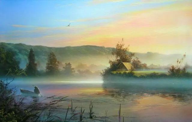 白俄罗斯艺术家维克多·尤什科维奇风景绘画作品欣赏
