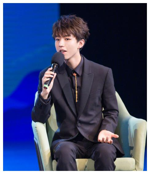 王俊凯出席联合国环境署亲善大使演讲现场,帅气逼人