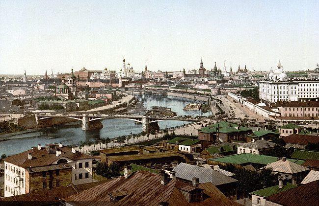 老照片:告诉你100年前的莫斯科什么样