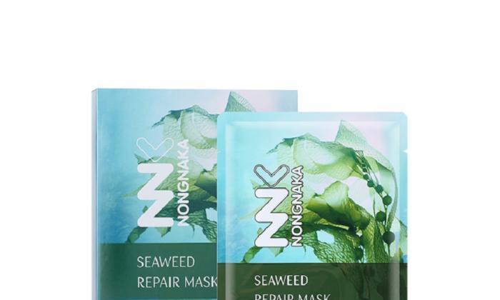 海藻修护补水面膜,保湿锁水水油平衡,让肌肤更加光滑细腻