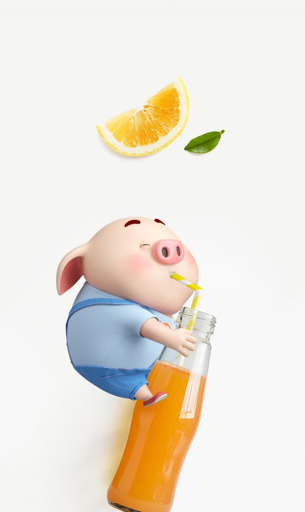 可爱猪猪年来了,换新的猪猪植物壁纸过年啦