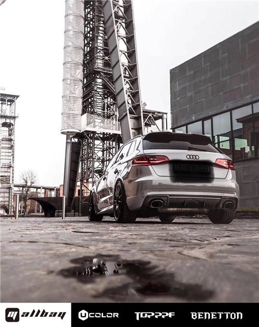 """""""钢炮王""""变色记 奥迪RS3 Sportback 改色水泥灰"""