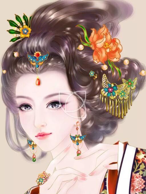 古风手绘绝色倾国皇后壁纸:回眸一笑百媚生,六宫粉黛无颜色!