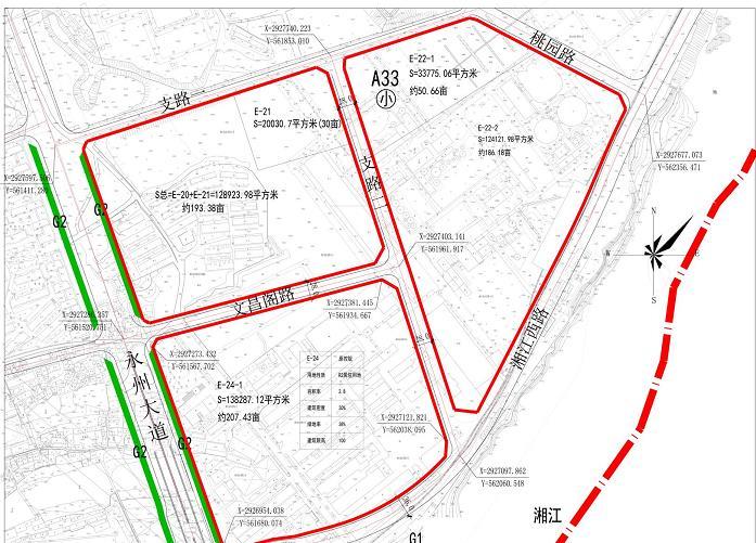 湖南省永州市冷水滩区E-24-1宗地出让预公告