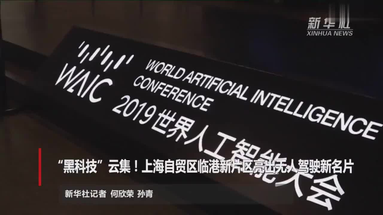 """""""黑科技""""云集!上海自贸区临港新片区亮出无人驾驶新名片"""