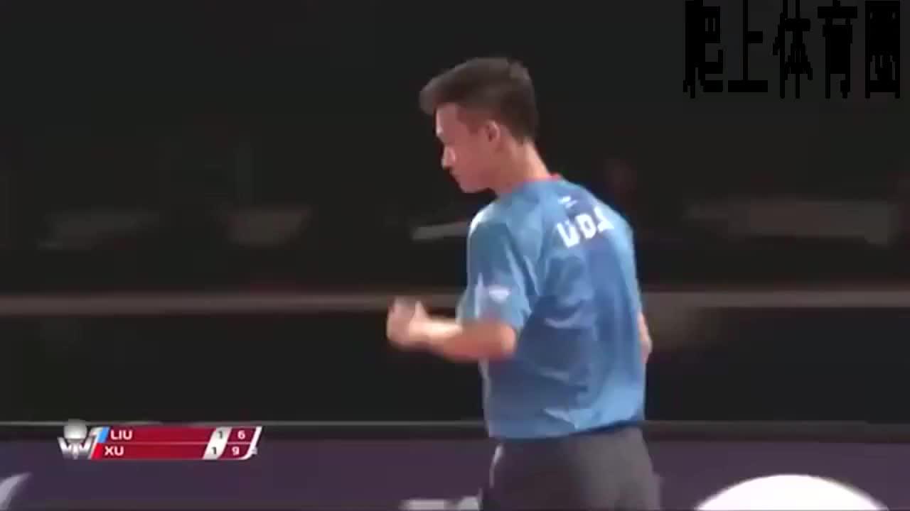 乒乓球打出新高度,许昕VS刘丁硕,有金左手真不是闹着玩的。