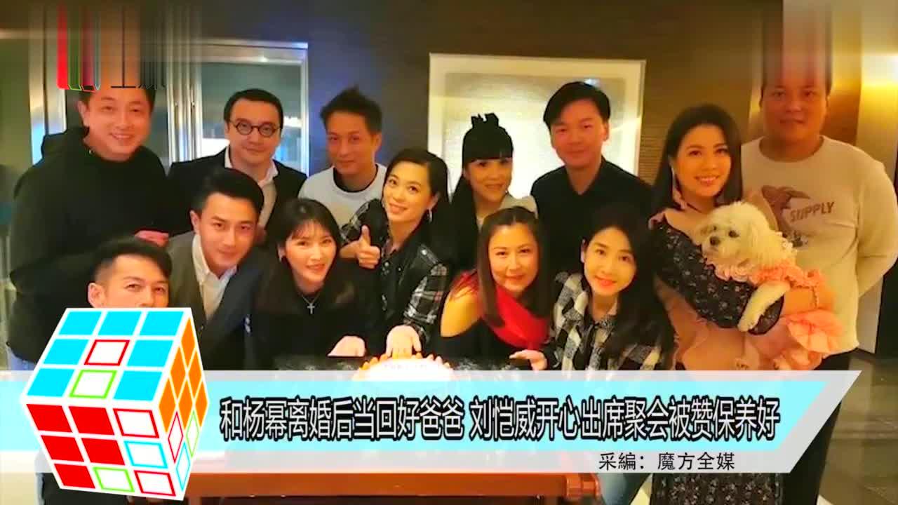 和杨幂离婚后当回好爸爸,刘恺威开心出席聚会被赞保养好