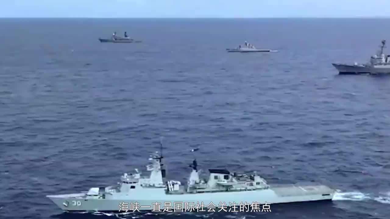 看来美舰吃大亏了在海峡内遭大批战舰驱离一架侦察机火速支援