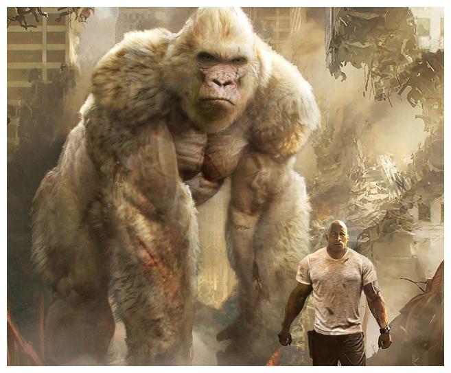 《狂暴巨兽》的视效超棒,硬汉强森太厉害了,值得一看!