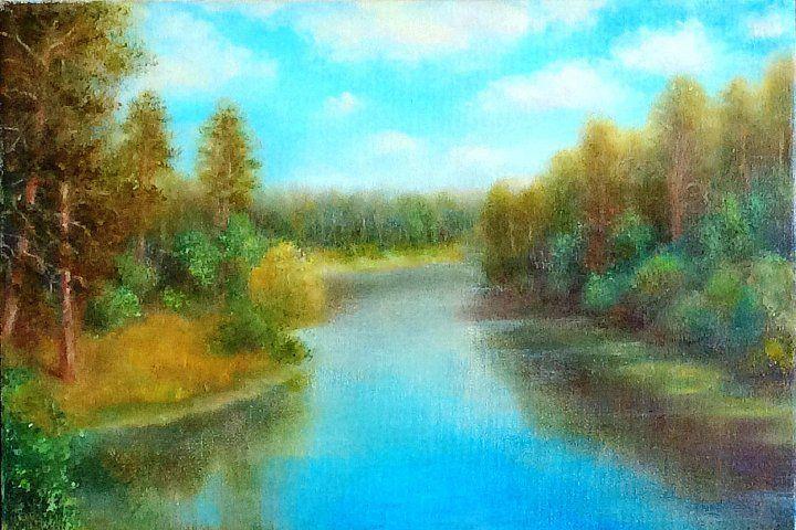 春来江水绿如蓝:俄罗斯女艺术家纳塔利·维罗奇金娜油画作品赏析