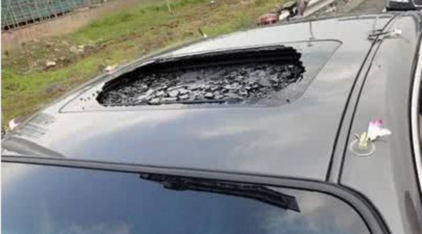 日系车真不安全吗德系美系谁更抗造看冰雹后被砸的车就明白了