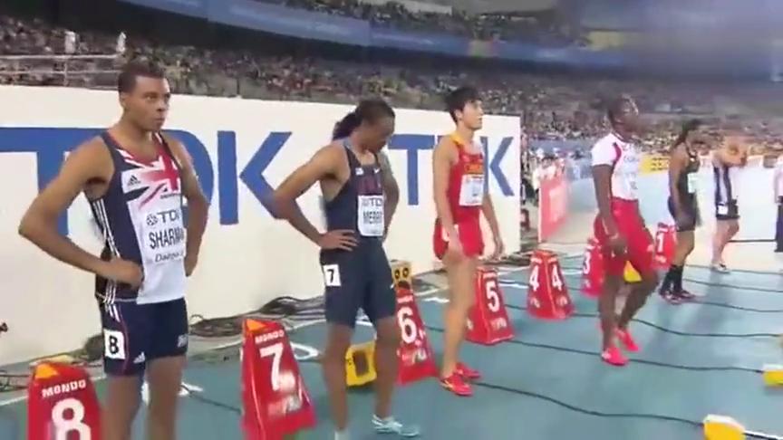 罗伯斯故意拉扯刘翔回顾2011年大邱世锦赛110米栏决赛