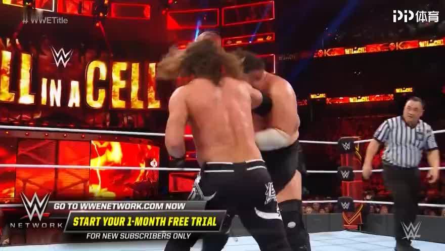 WWEWWE冠军赛传奇大师AJ激战萨摩亚乔精彩赛事集锦