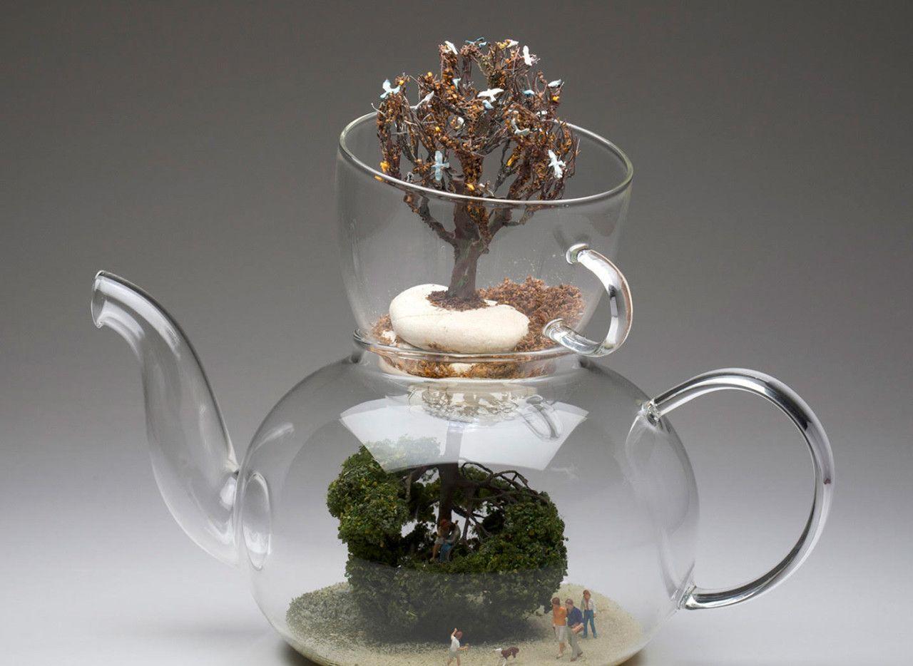 螺蛳壳里做道场,艺术家用零钱包和茶壶制作微雕